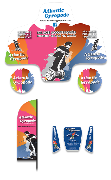 Communication visuelle sur SEGWAY - Street marketing - ATLANTIC GYROPODE - Couleur AG